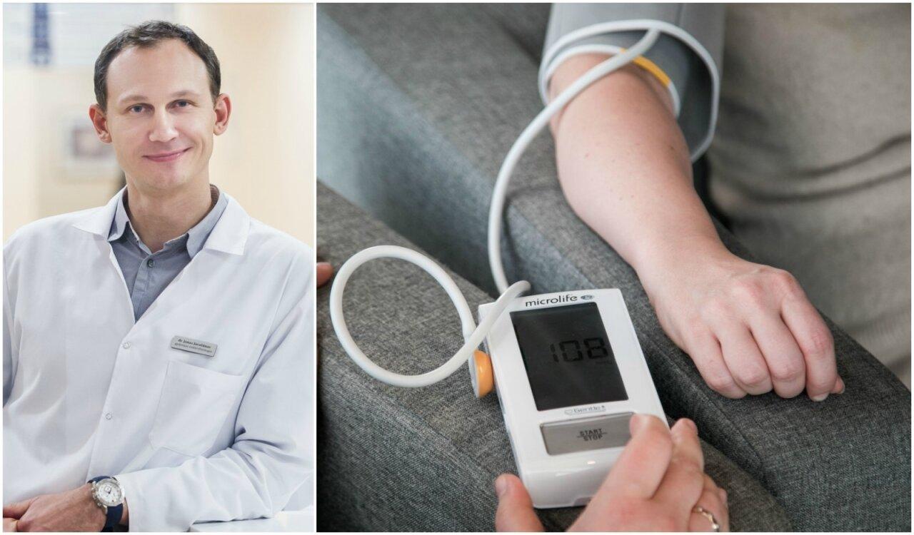 hipertenzijos gydymas dalimis