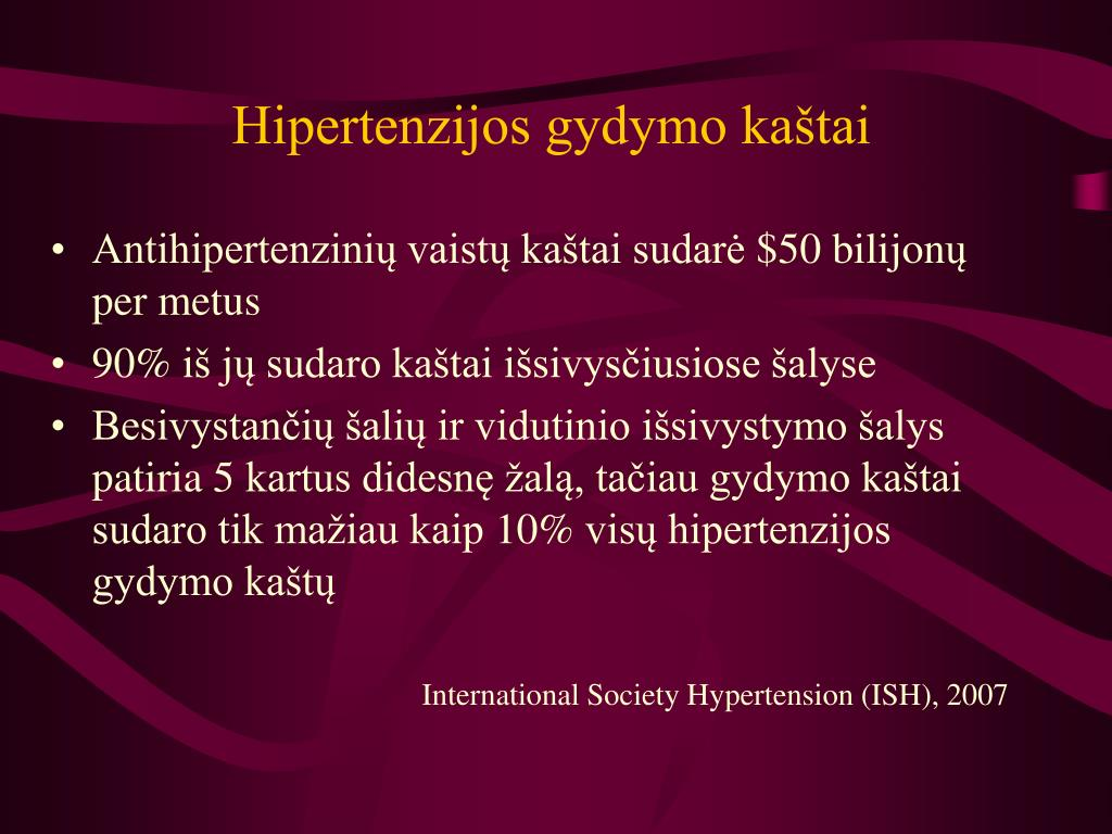 greitas hipertenzijos gydymas