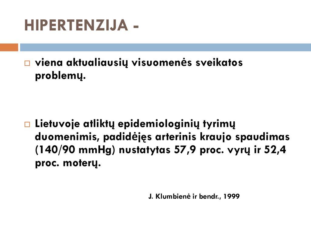 hipertenzija 1 laipsnis 4 stadijos