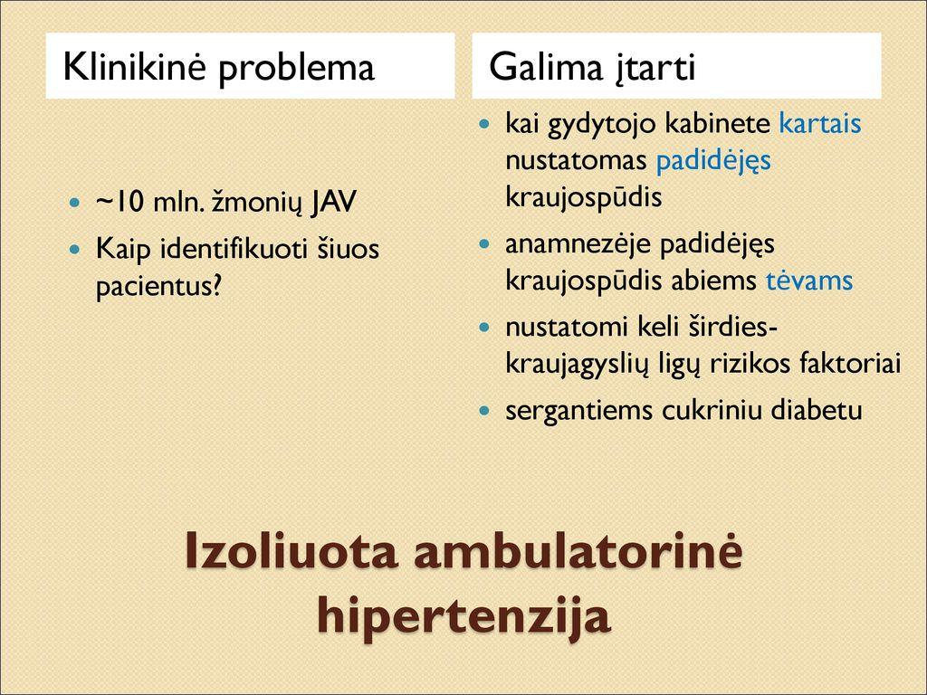 regos sutrikimas sergant hipertenzija