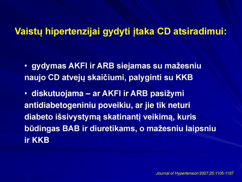 vaistai pirmojo laipsnio hipertenzijai gydyti