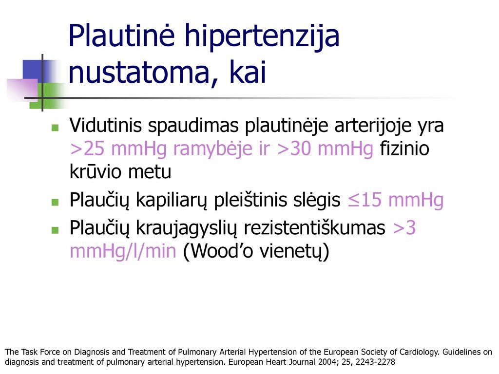 auksinis hipertenzijos gydymo standartas