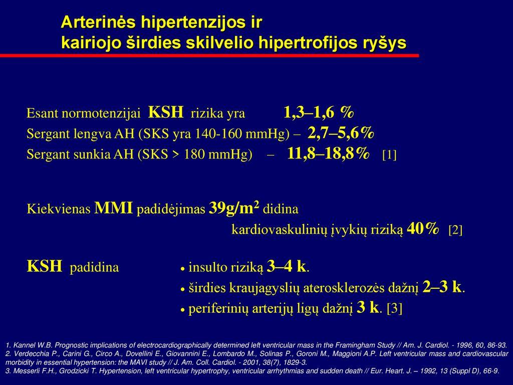 hipertenzija dažniausiai stebima sergant