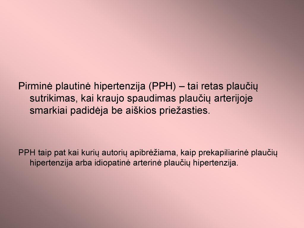 Plautinė hipertenzija | taf.lt