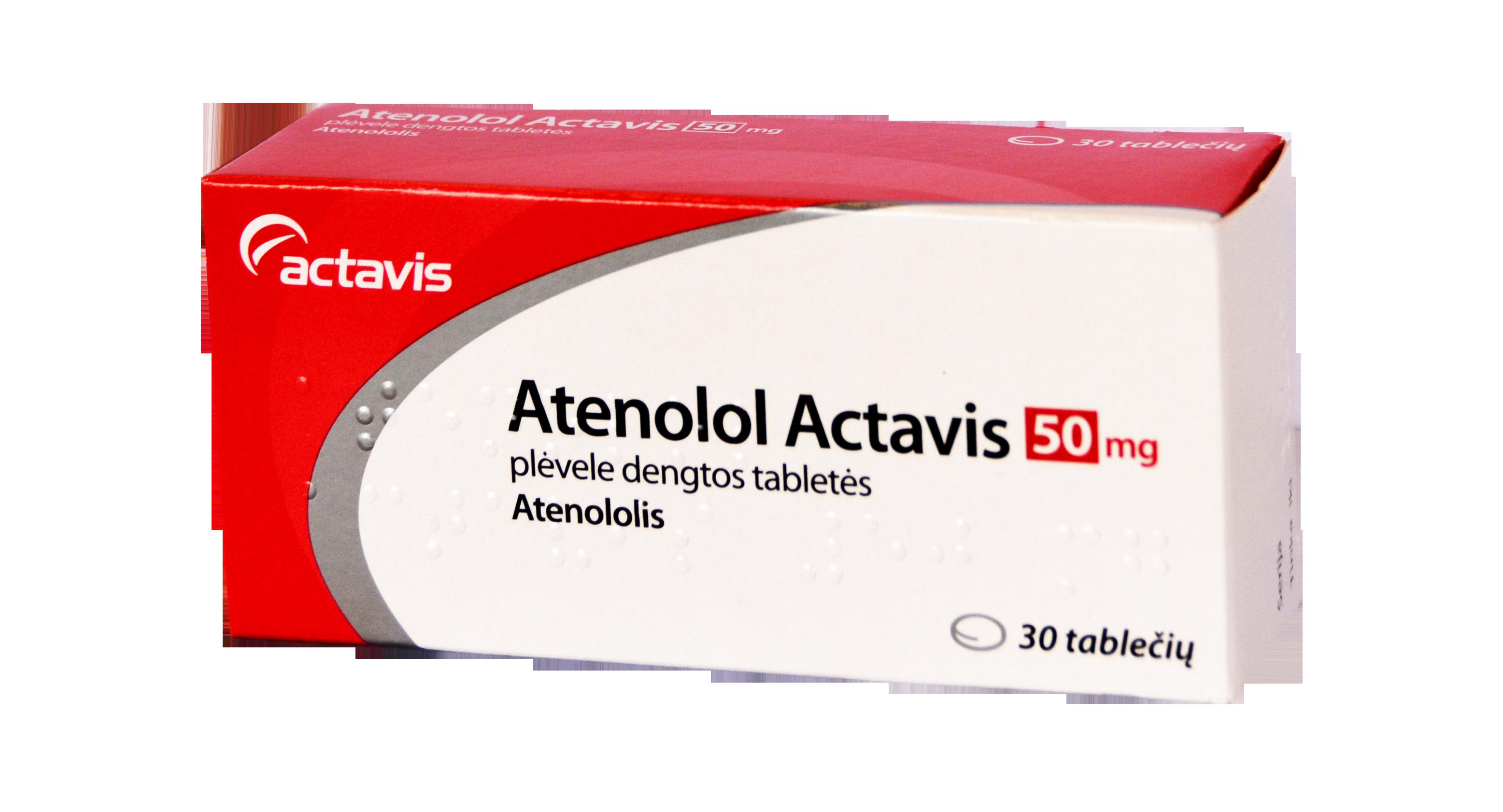 Atenolol Actavis | Vartojimas, šalutinis poveikis | taf.lt