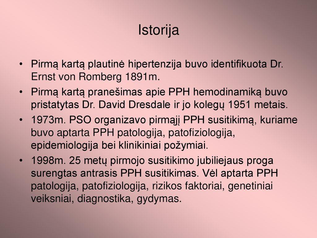 versti hipertenzija