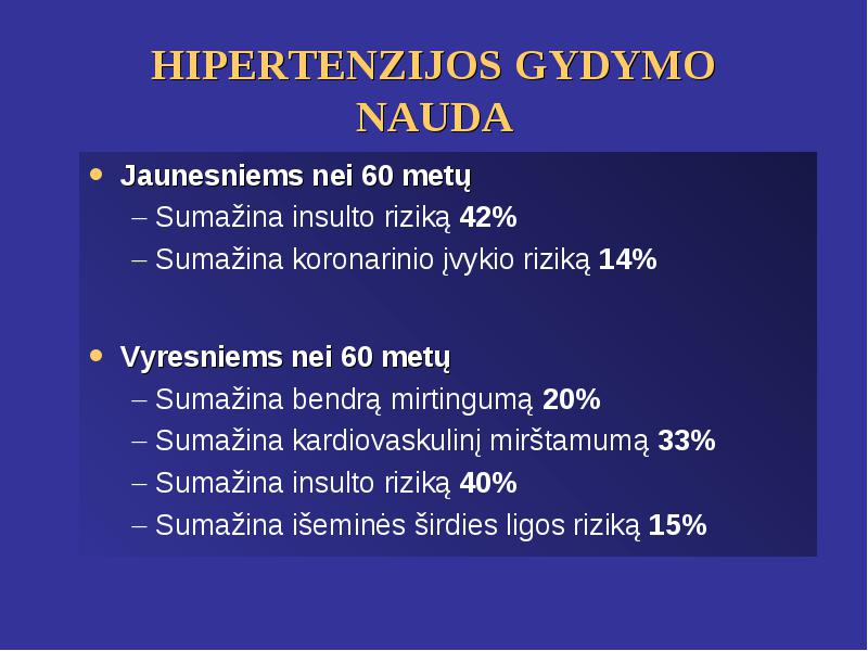 kaip sumažinti hipertenzijos riziką