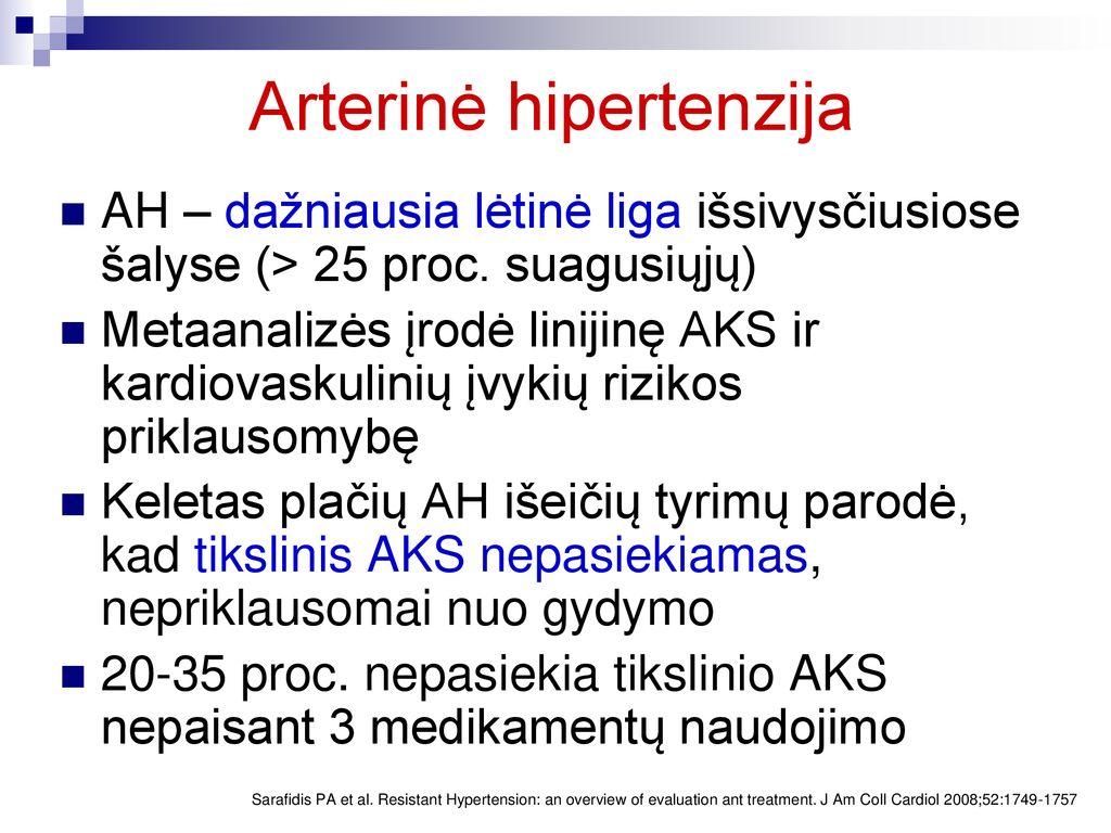 hipertenzija 25 metų amžiaus
