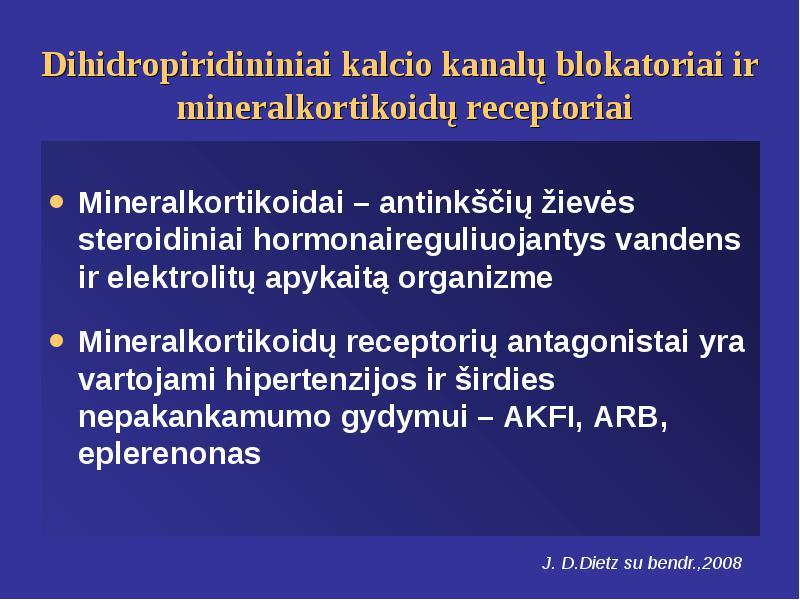 hipertenzija ir kalcio vartojimas