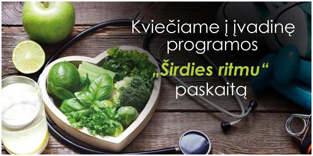 sveikatos programų širdies ritmas