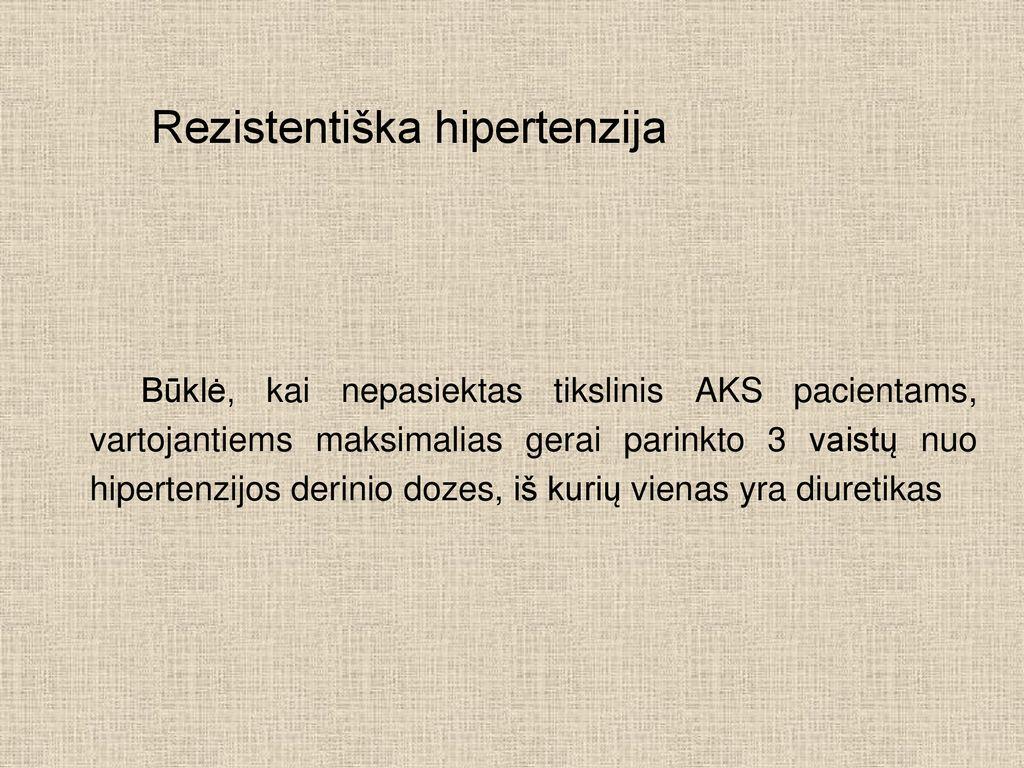 vaistų nuo hipertenzijos klasifikacija