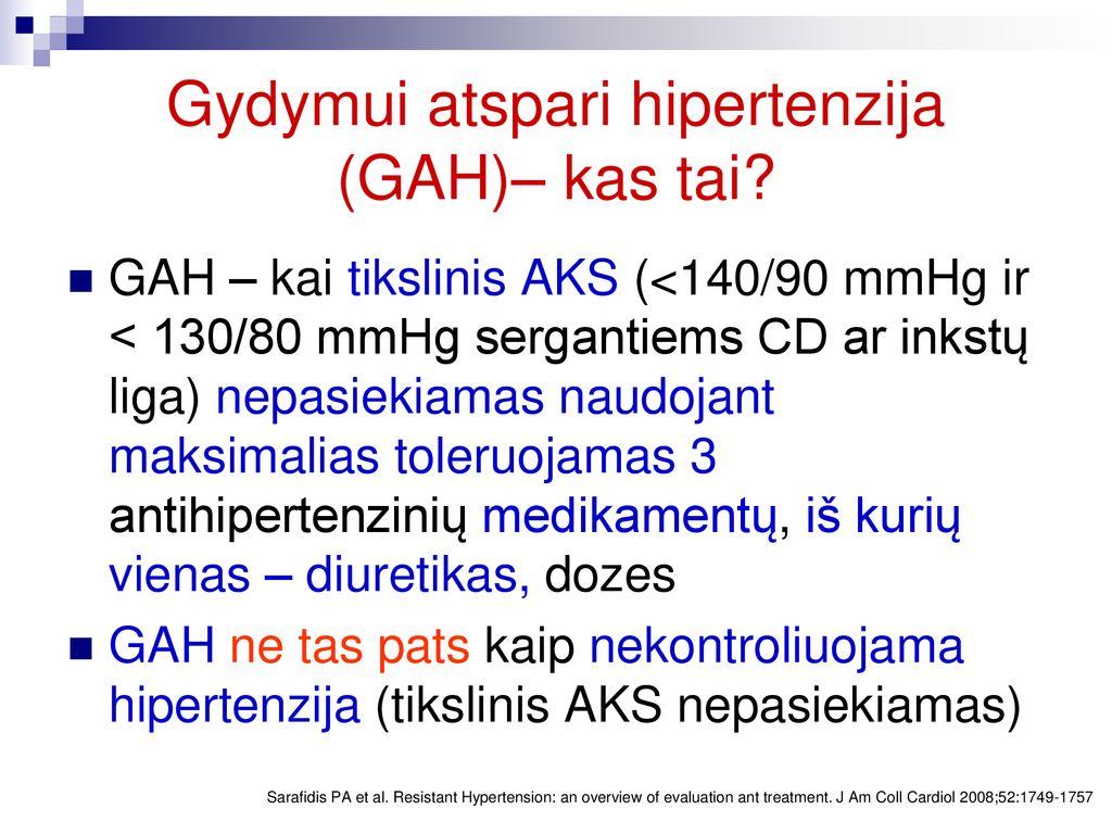gydymas hipertenzijos dozėmis