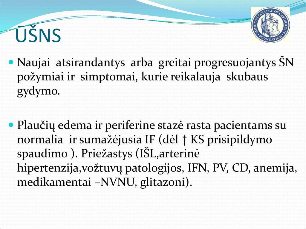hipertenzijos edemos gydymas