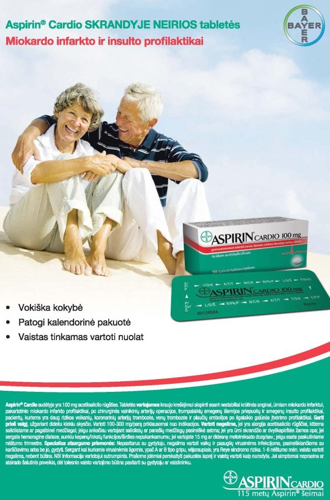 abc sveikatos ataskaita aspirinas širdžiai