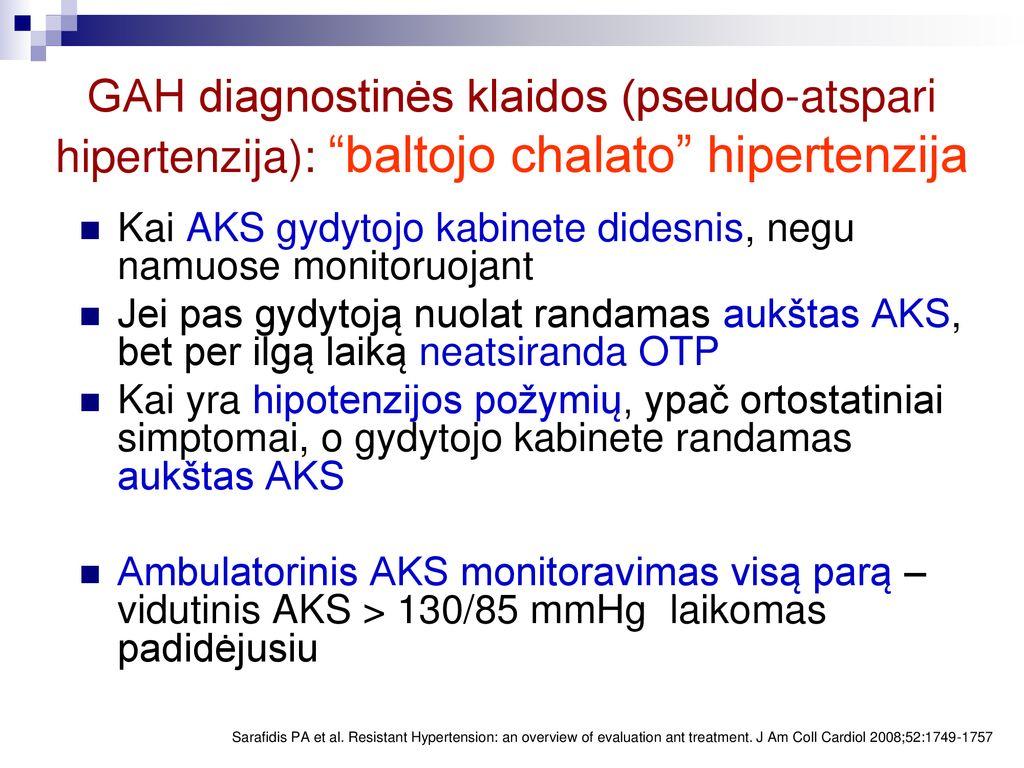 hipertenzija dėl to, kas atsiranda