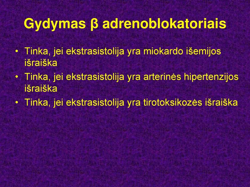 vegetacinės hipertenzijos gydymas