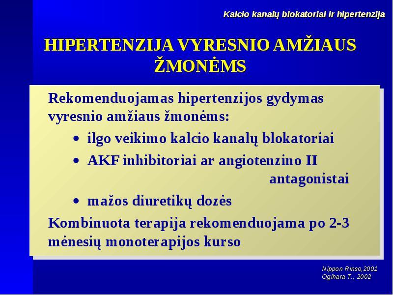 hipertenzijos gydymo rekomendacijos eok